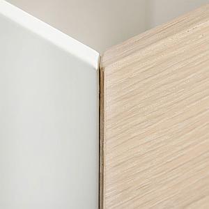 3 cajones almacenamiento WOOD Oliver Furniture roble-blanco