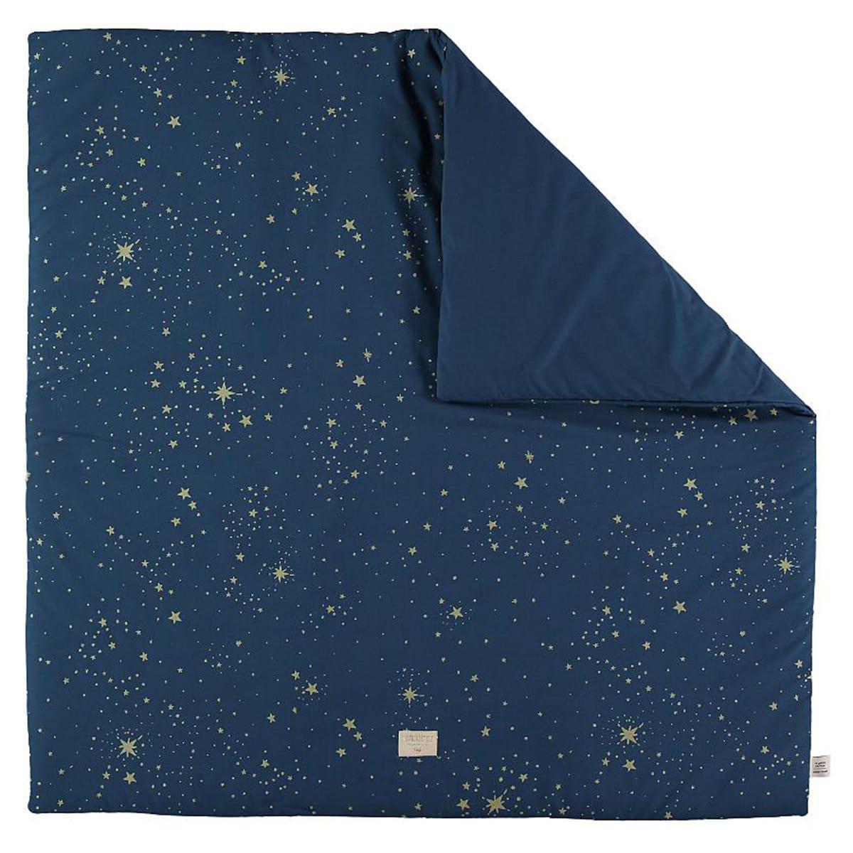 Alfombra 100x100cm COLORADO ELEMENTS Nobodinoz gold stella-night blue