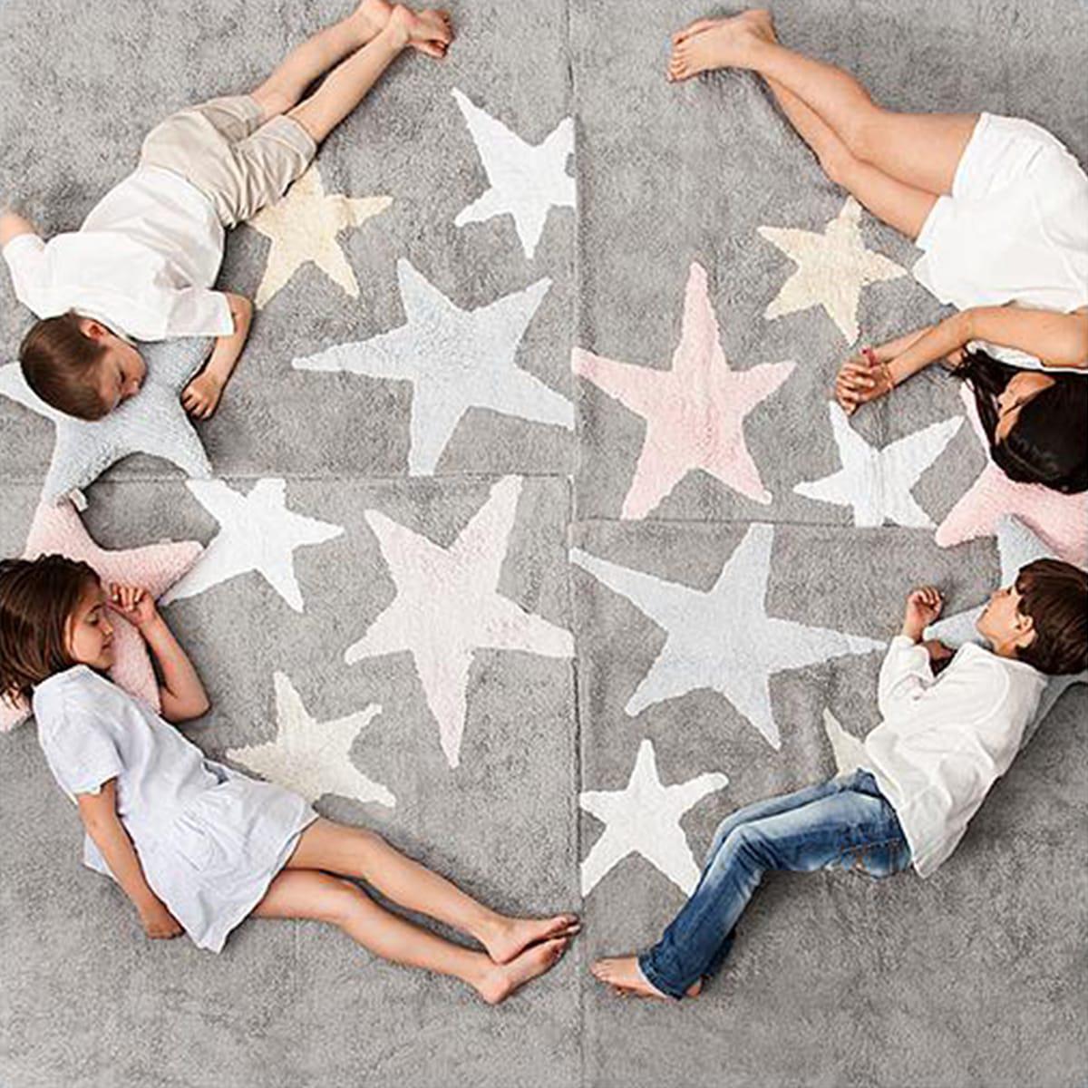 Alfombra 120x160cm 3 STARS Lorena Canals grey-pink