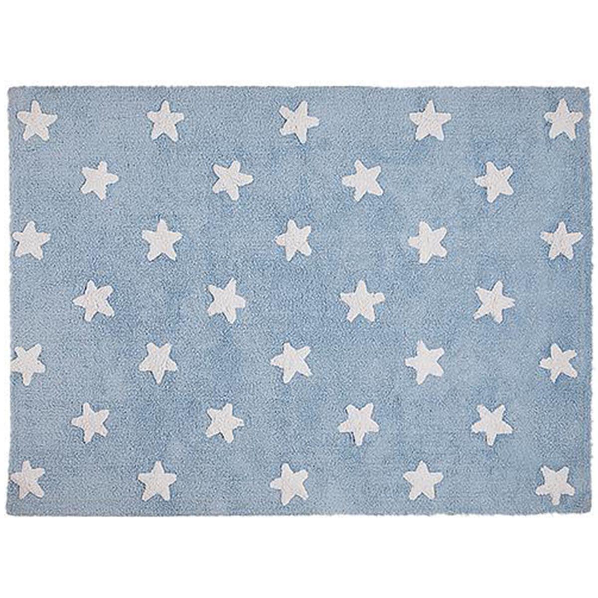Alfombra 120x160cm STARS Lorena Canals blue-white