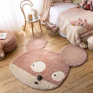 Alfombra Woolable 120x120cm MISS MIGHTY MOUSE Lorena Canals