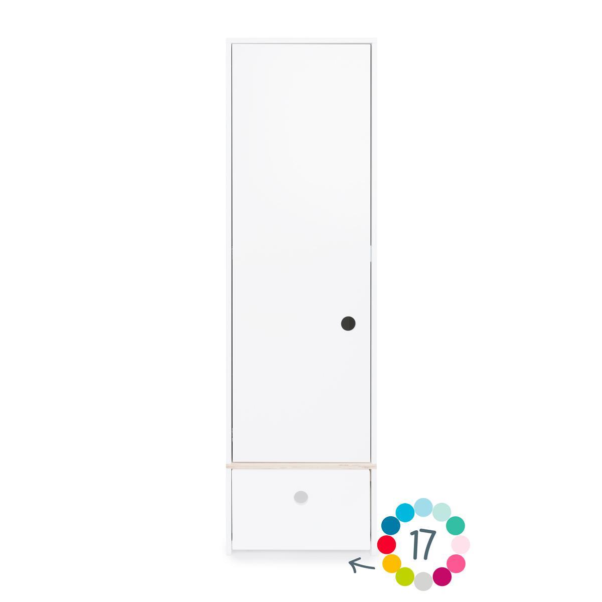 Armario 1 puerta cajón sin frontal COLORFLEX Abitare Kids