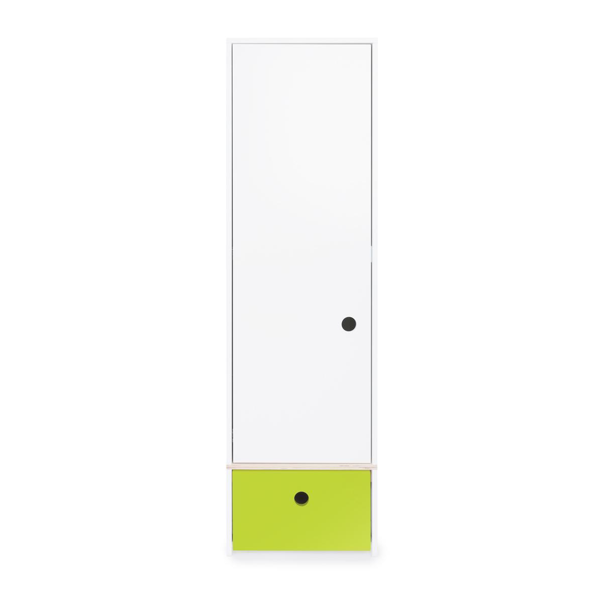 Armario 1 puerta COLORFLEX Abitare Kids cajón frontal lime