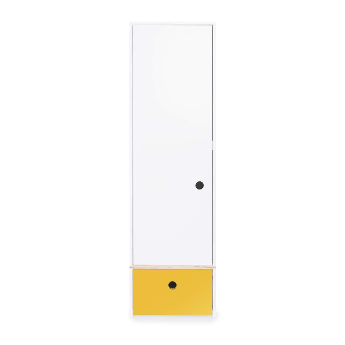 Armario 1 puerta COLORFLEX Abitare Kids cajón frontal nectar yellow