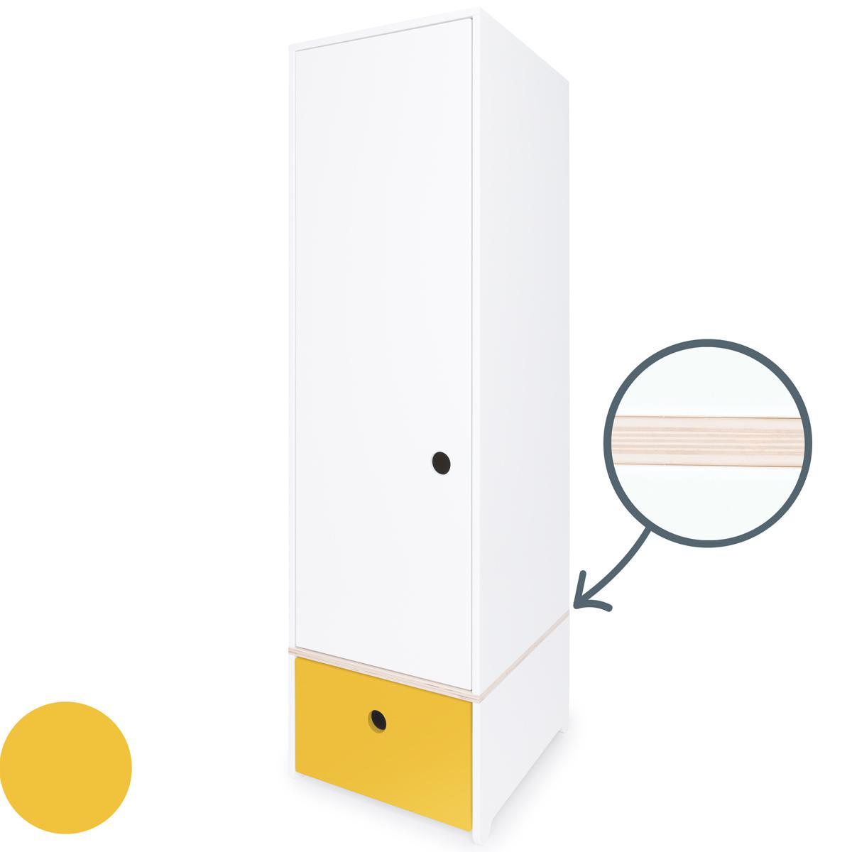 Armario 1 puerta COLORFLEX Abitare Kids cajón frontal nectar yellow