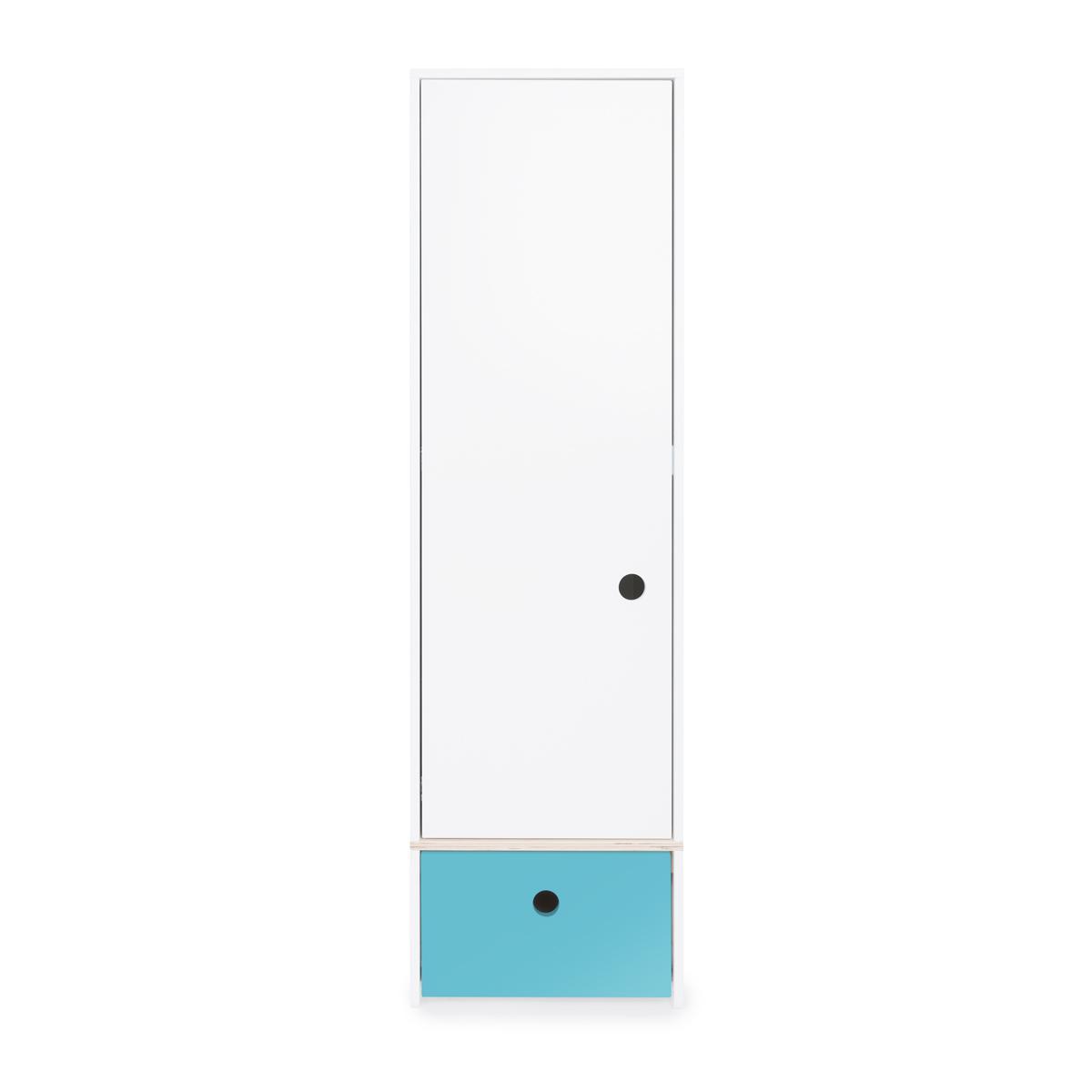 Armario 1 puerta COLORFLEX Abitare Kids cajón frontal paradise blue