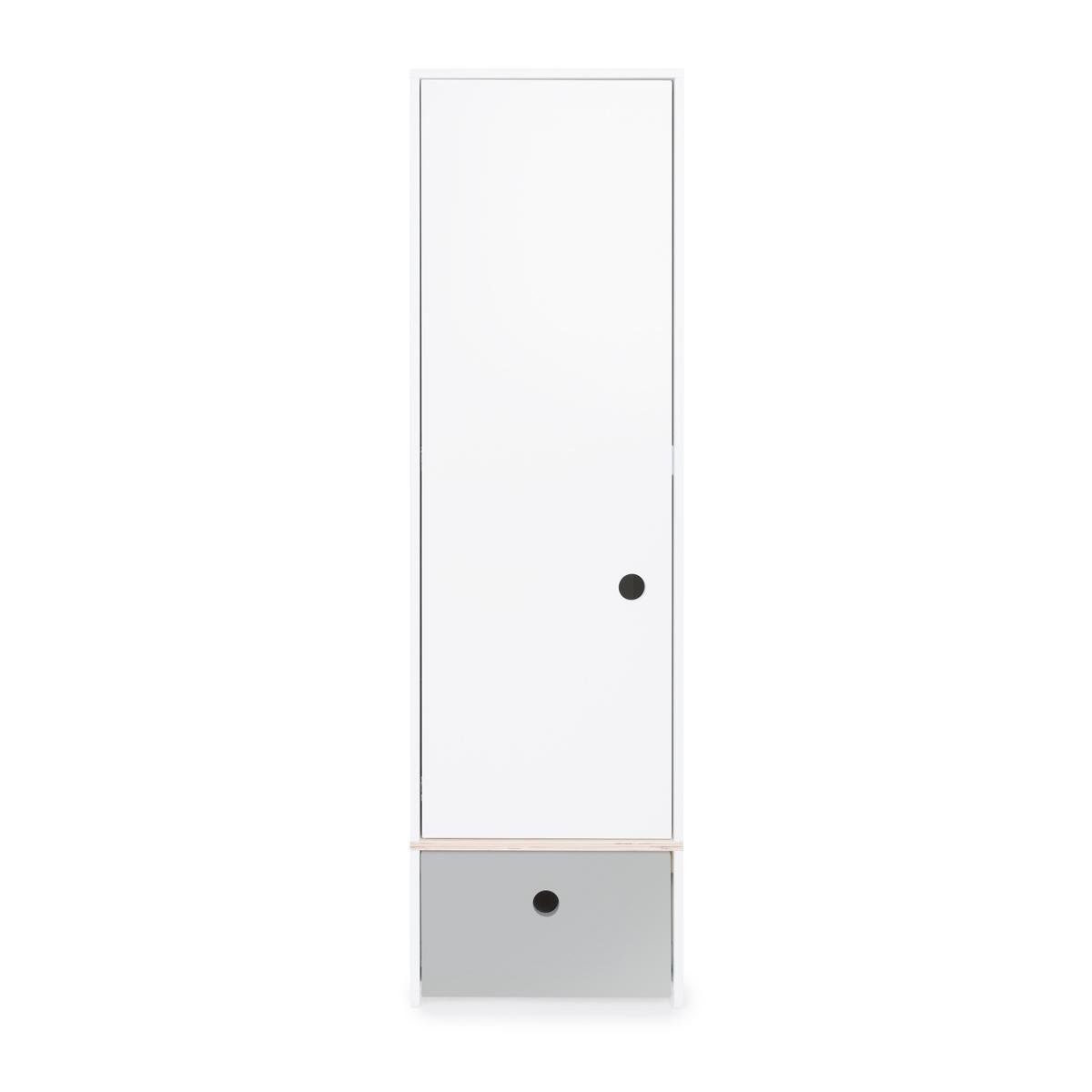Armario 1 puerta COLORFLEX Abitare Kids cajón frontal pearl grey