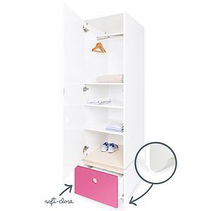Armario 1 puerta COLORFLEX Abitare Kids cajón frontal pink
