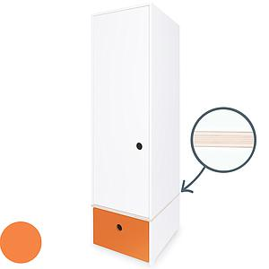 Armario 1 puerta COLORFLEX Abitare Kids cajón frontal pure orange