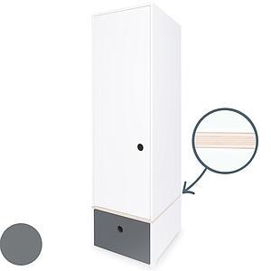 Armario 1 puerta COLORFLEX Abitare Kids cajón frontal space grey