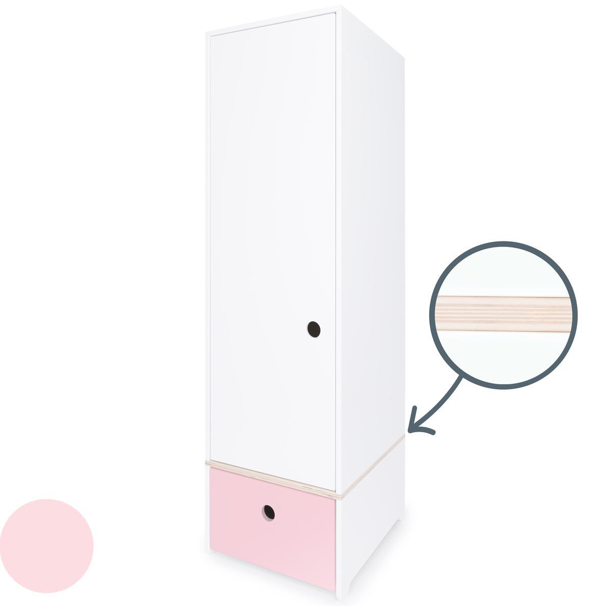 Armario 1 puerta COLORFLEX Abitare Kids cajón frontal sweet pink