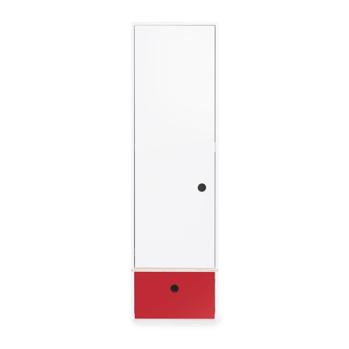 Armario 1 puerta COLORFLEX Abitare Kids cajón frontal true red
