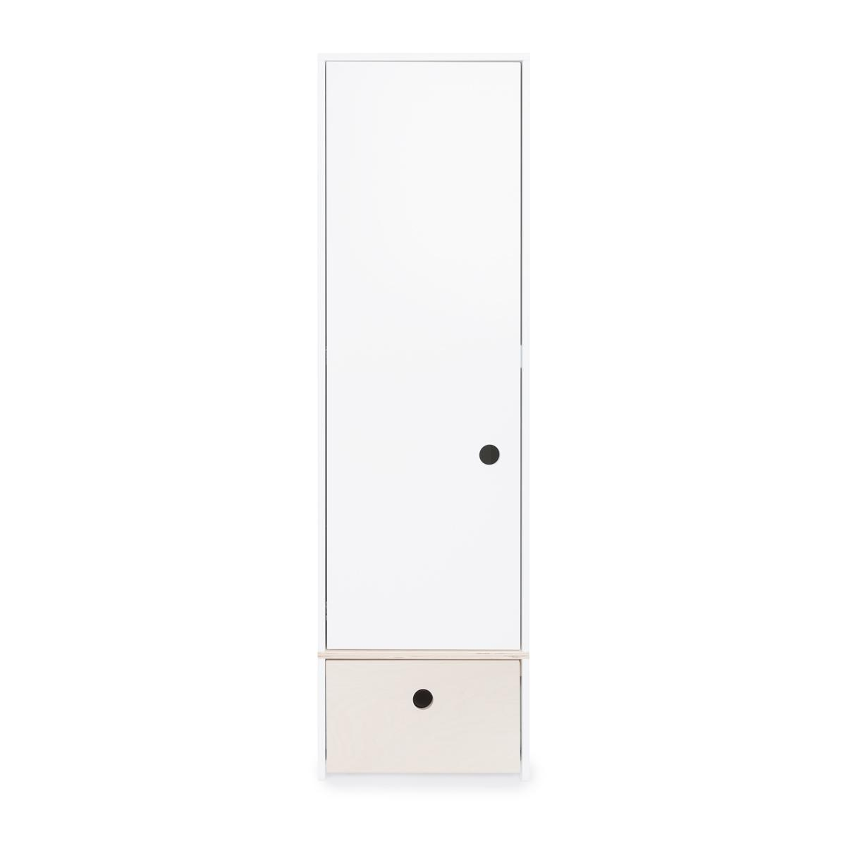 Armario 1 puerta COLORFLEX Abitare Kids cajón frontal white wash