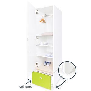 Armario 1 puerta COLORFLEX cajón frontal lime