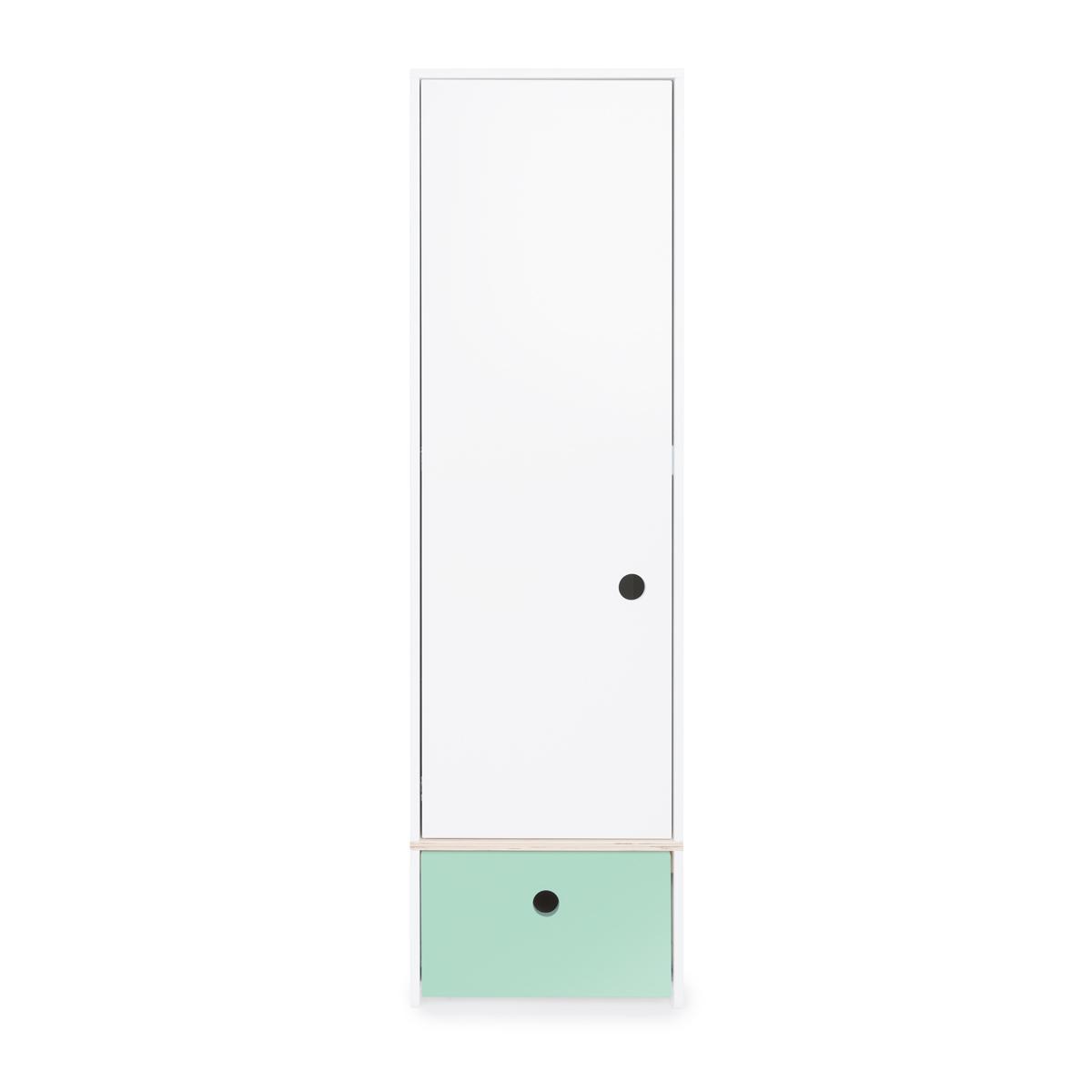 Armario 1 puerta COLORFLEX cajón frontal mint