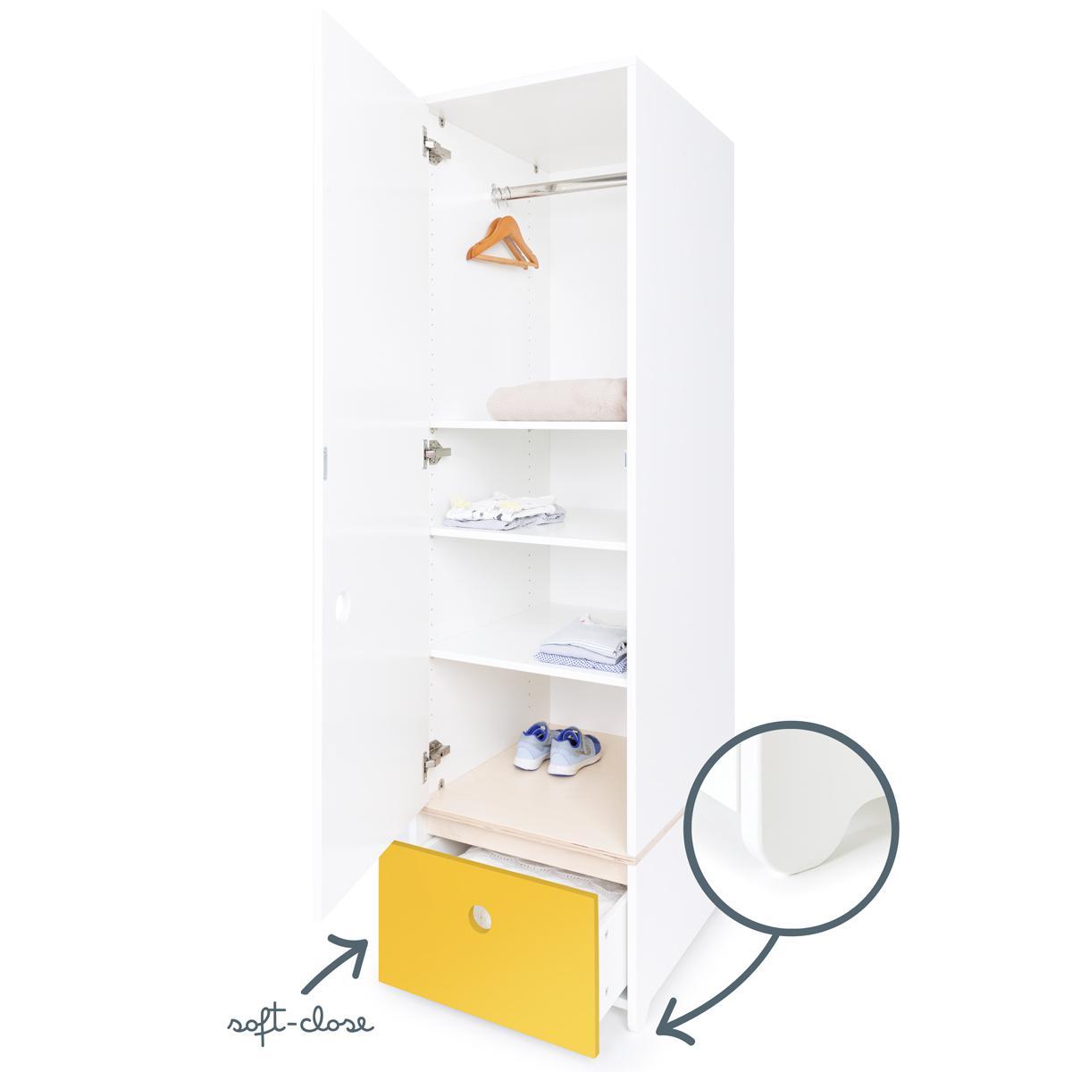 Armario 1 puerta COLORFLEX cajón frontal nectar yellow