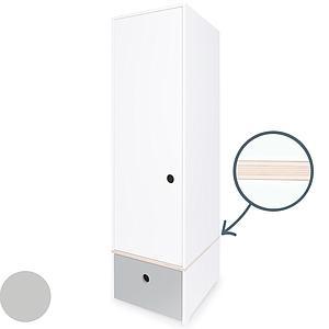 Armario 1 puerta COLORFLEX cajón frontal pearl grey
