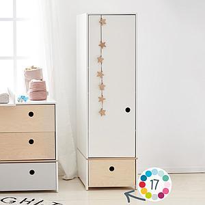 Armario 1 puerta COLORFLEX cajón frontal pink
