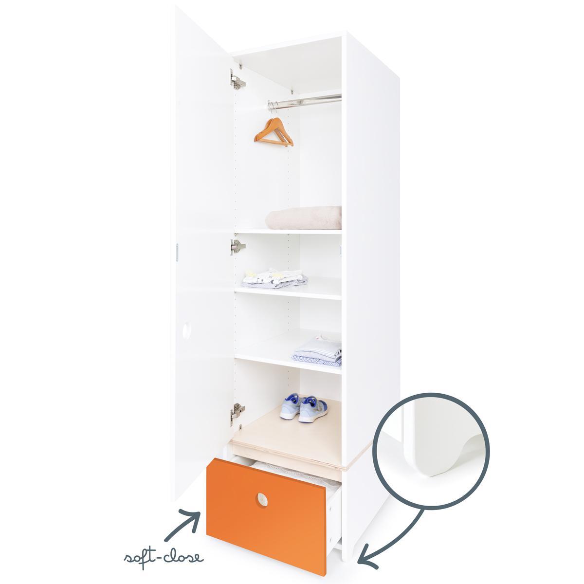 Armario 1 puerta COLORFLEX cajón frontal pure orange