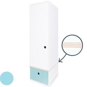 Armario 1 puerta COLORFLEX cajón frontal sky blue
