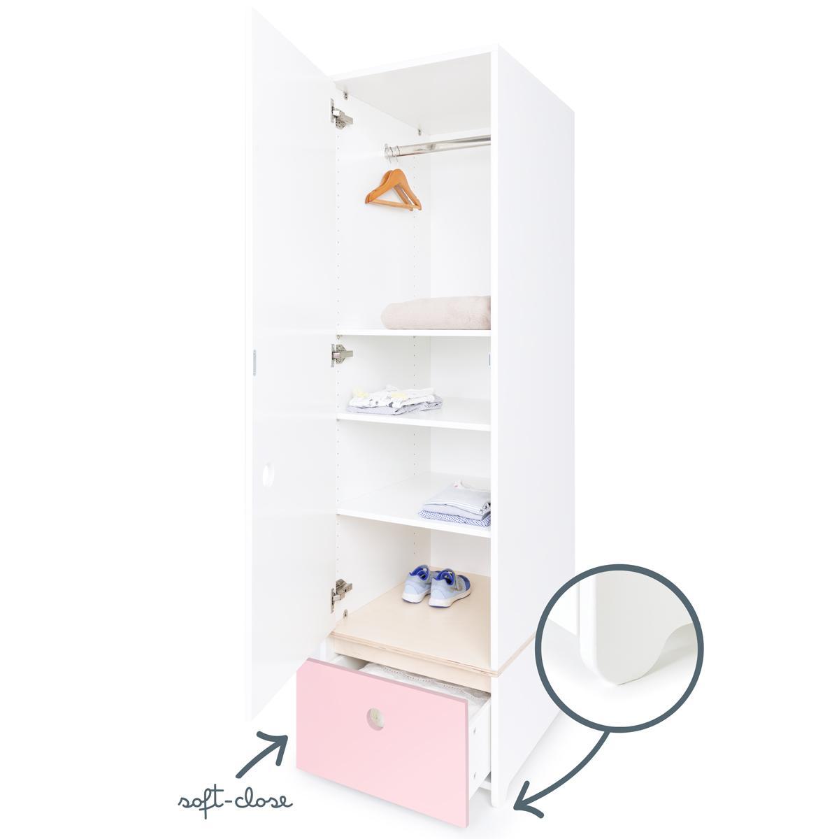 Armario 1 puerta COLORFLEX cajón frontal sweet pink