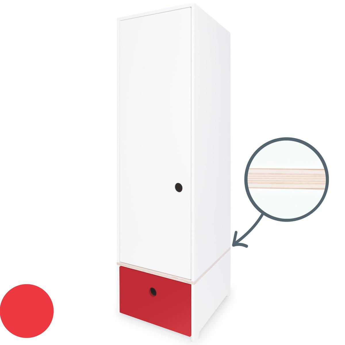 Armario 1 puerta COLORFLEX cajón frontal true red