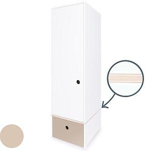 Armario 1 puerta COLORFLEX cajón frontal warm grey