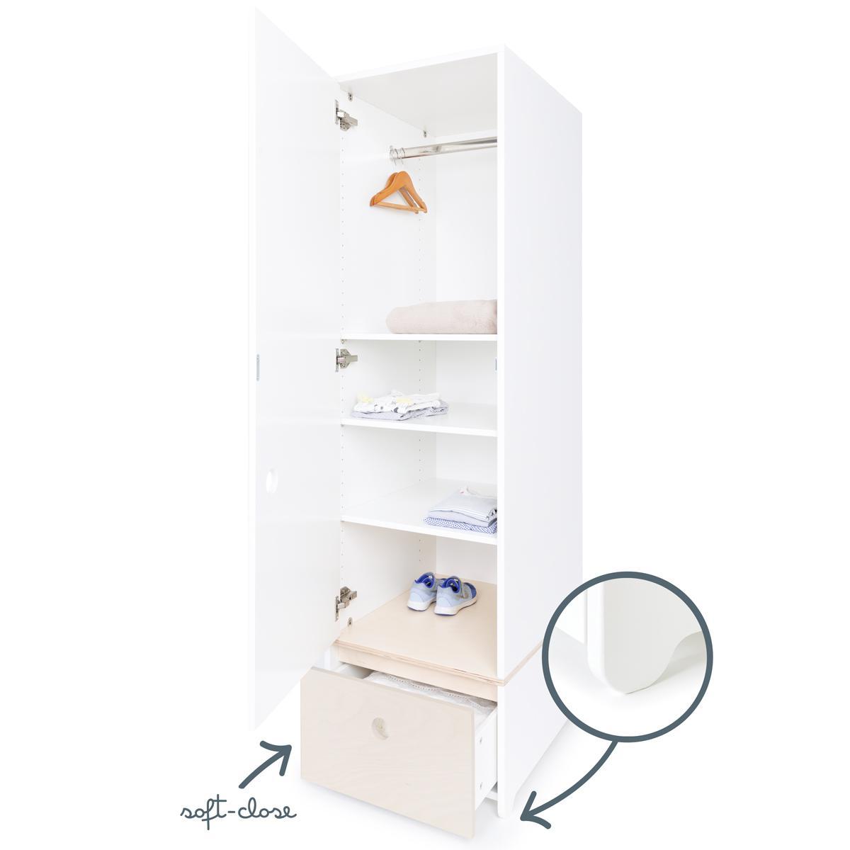 Armario 1 puerta COLORFLEX cajón frontal white wash