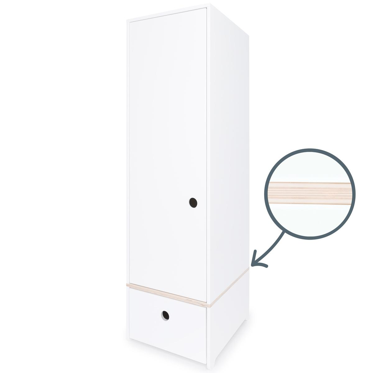 Armario 1 puerta COLORFLEX cajón frontal white