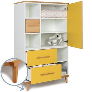 Armario 147cm 1 puerta 2 cajones NADO sunshine yellow