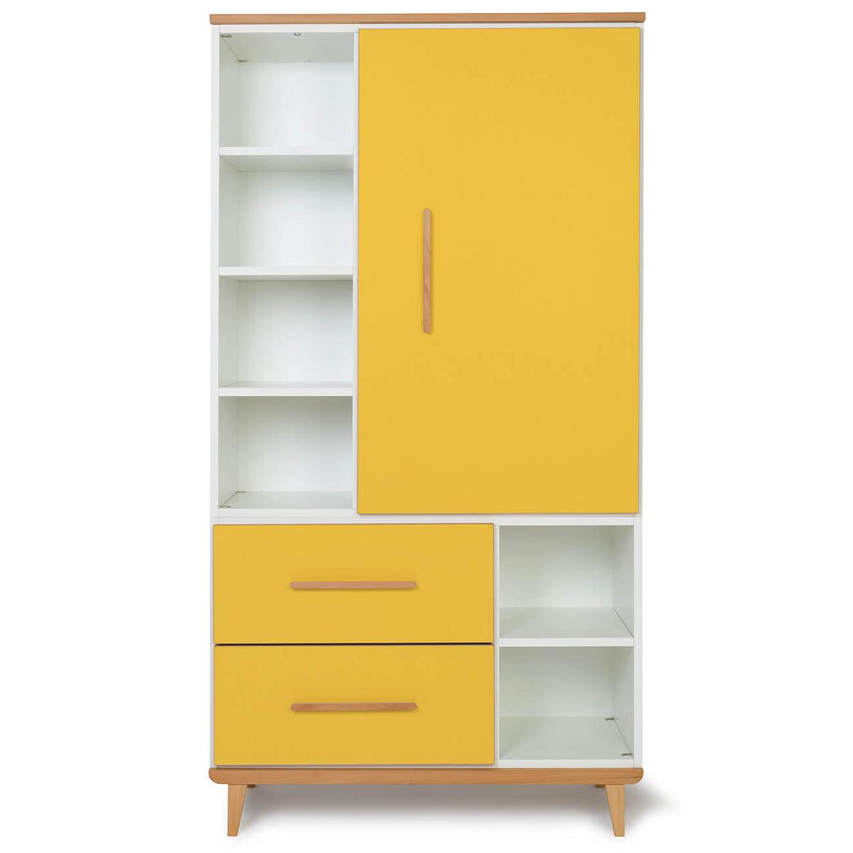 Armario 173cm 1 puerta 2 cajones NADO By A.K. sunshine yellow