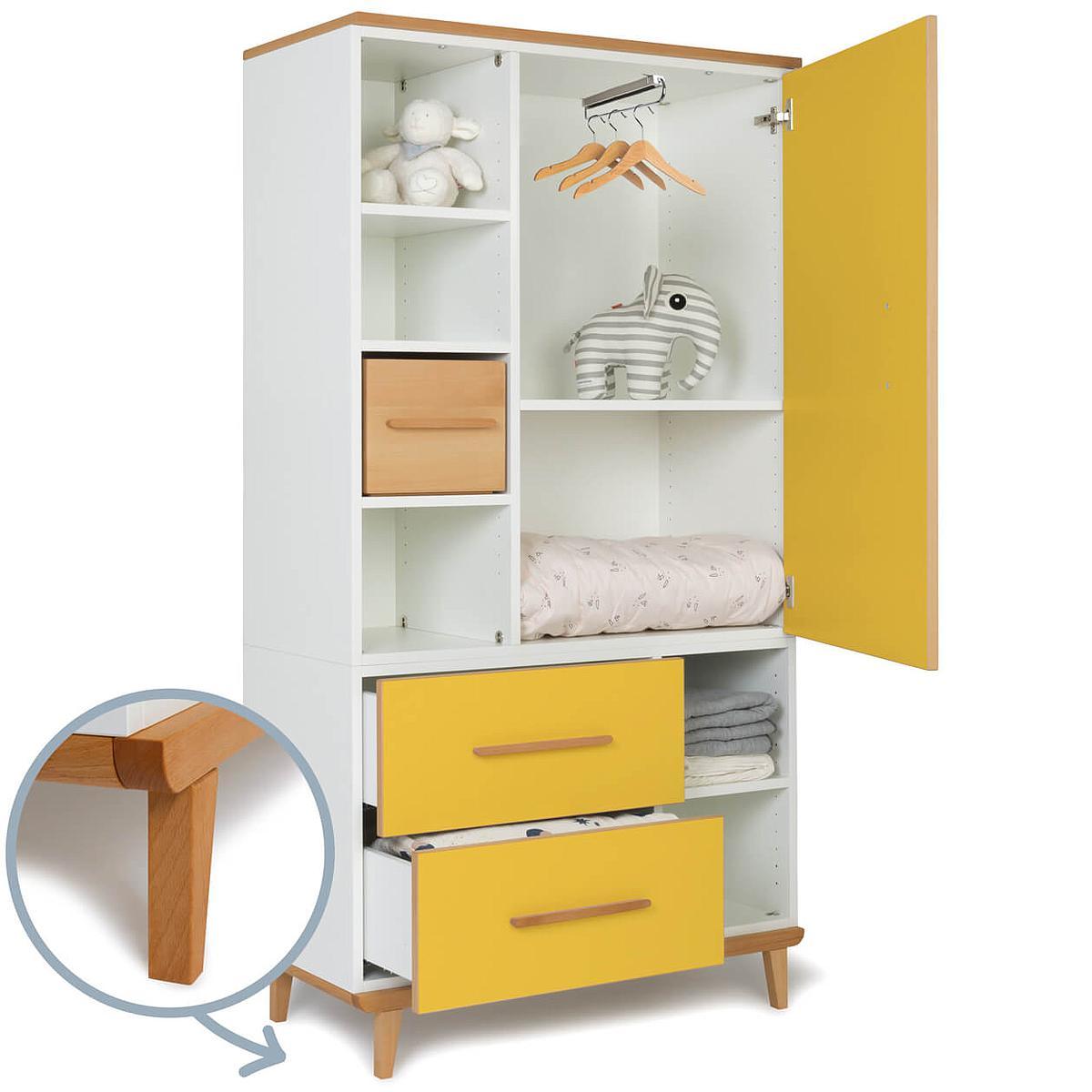 Armario 173cm 1 puerta 2 cajones NADO sunshine yellow