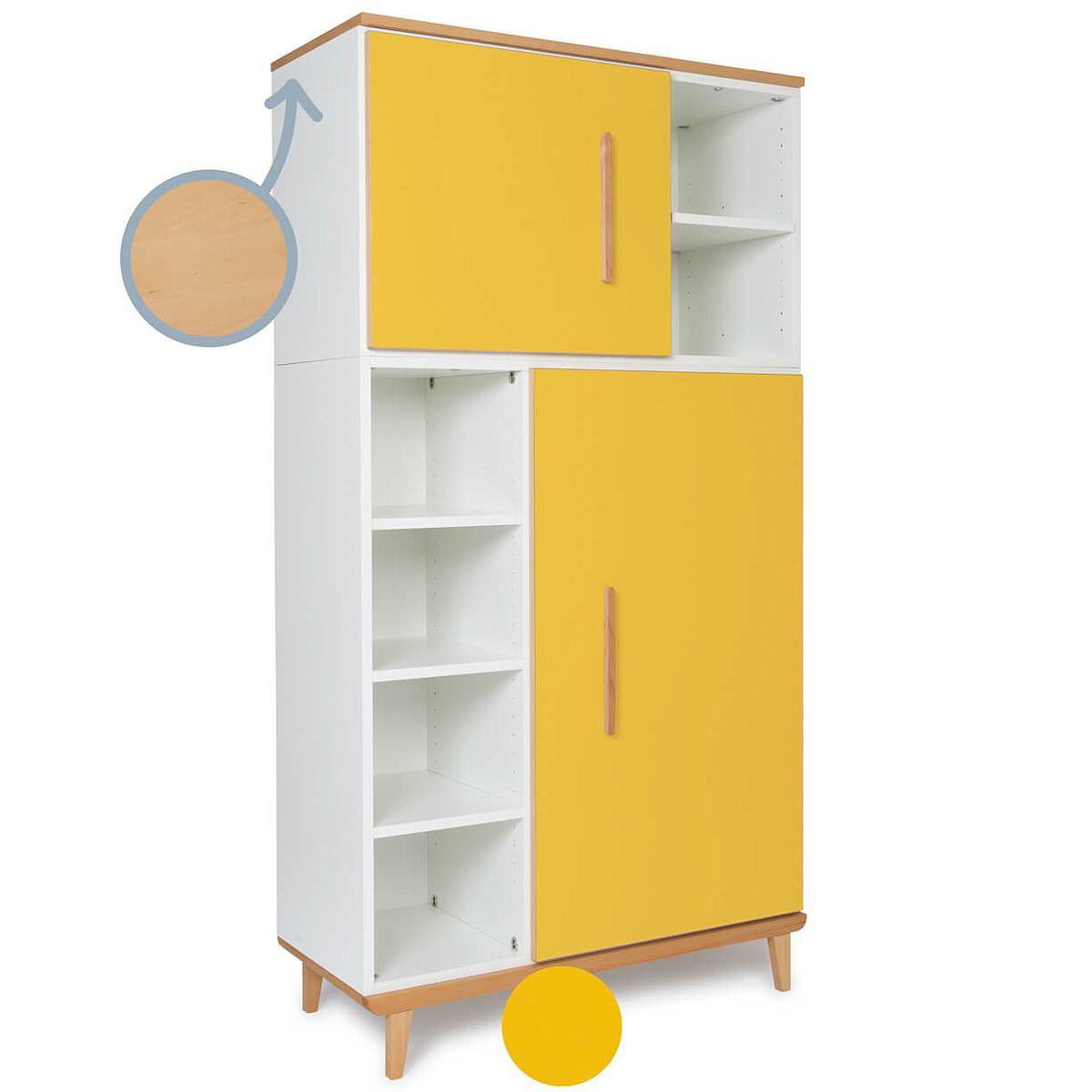 Armario 173cm 2 puertas NADO sunshine yellow
