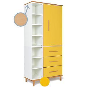 Armario 198cm 1 puerta 3 cajones NADO sunshine yellow