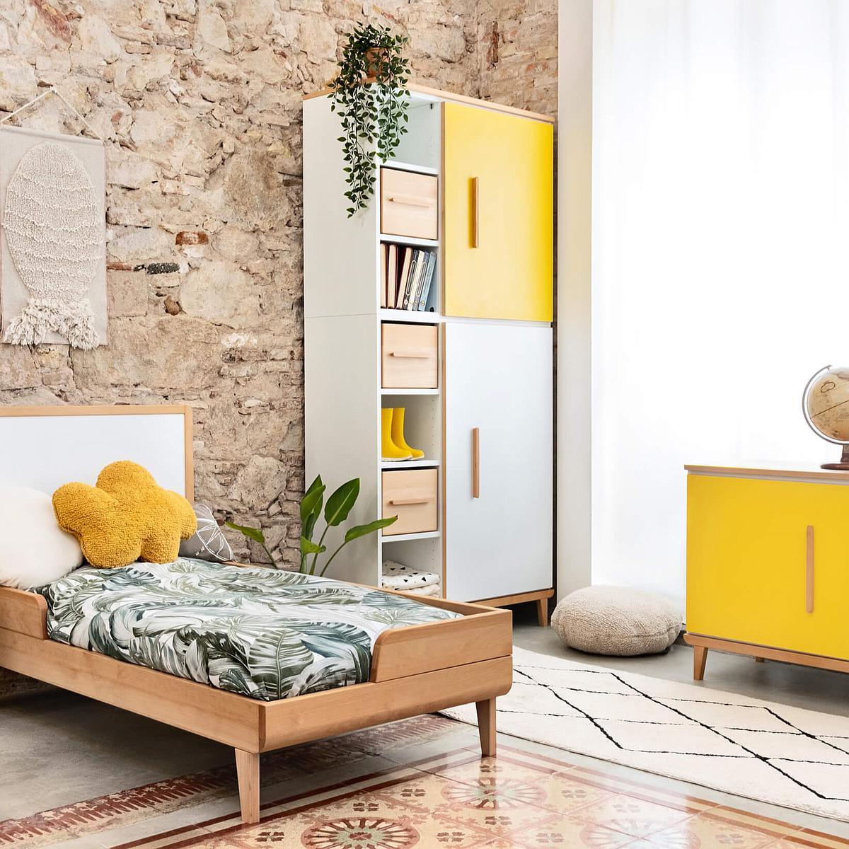 Armario 198cm 2 puertas NADO sunshine yellow