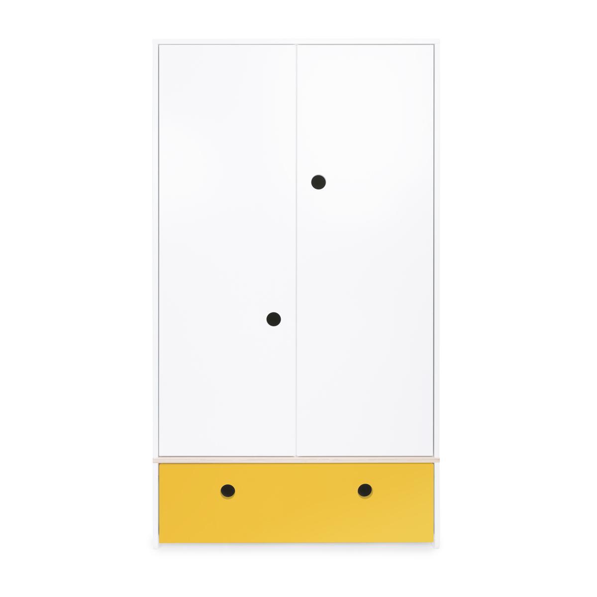 Armario 2 puertas COLORFLEX Abitare Kids cajón frontal nectar yellow