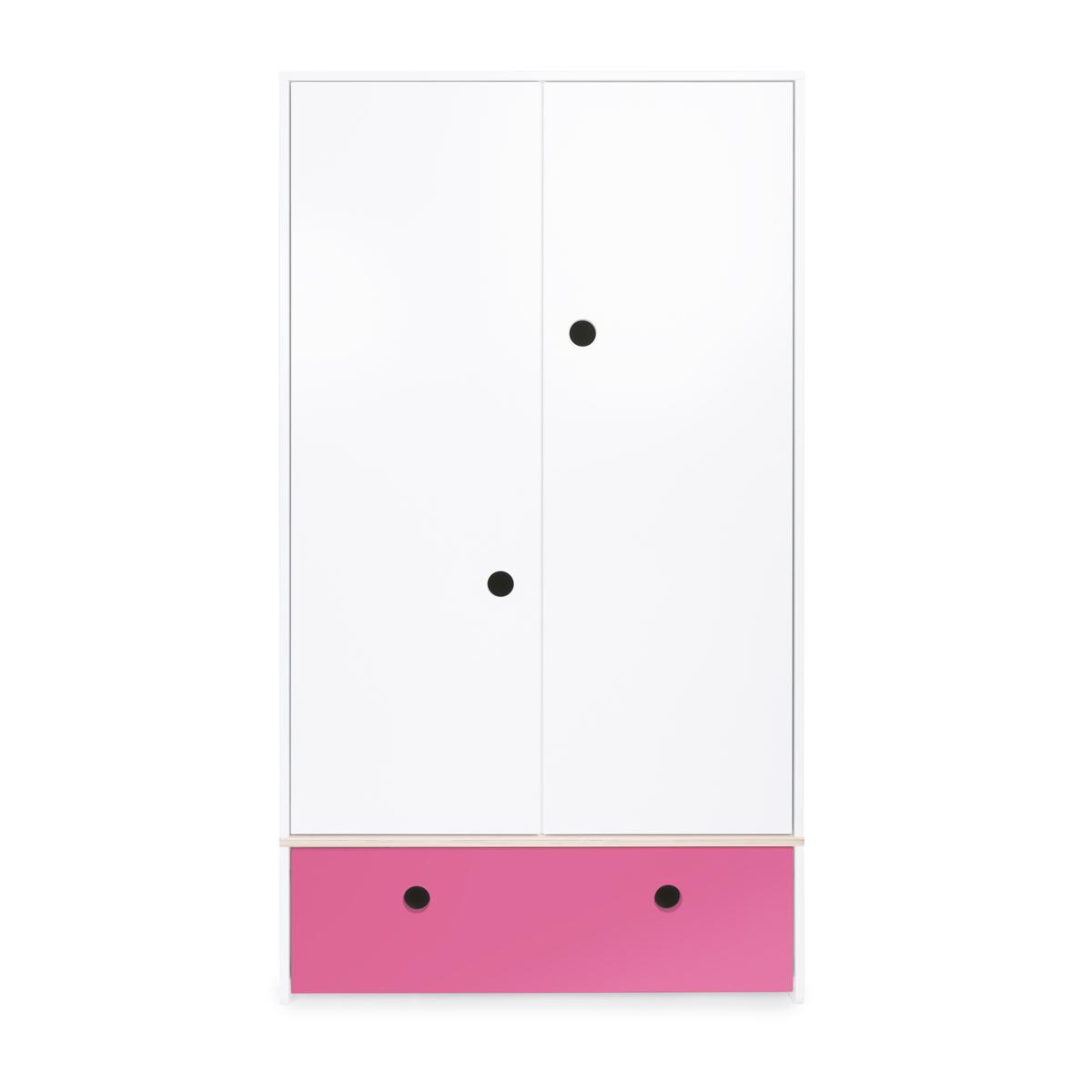 Armario 2 puertas COLORFLEX Abitare Kids cajón frontal pink
