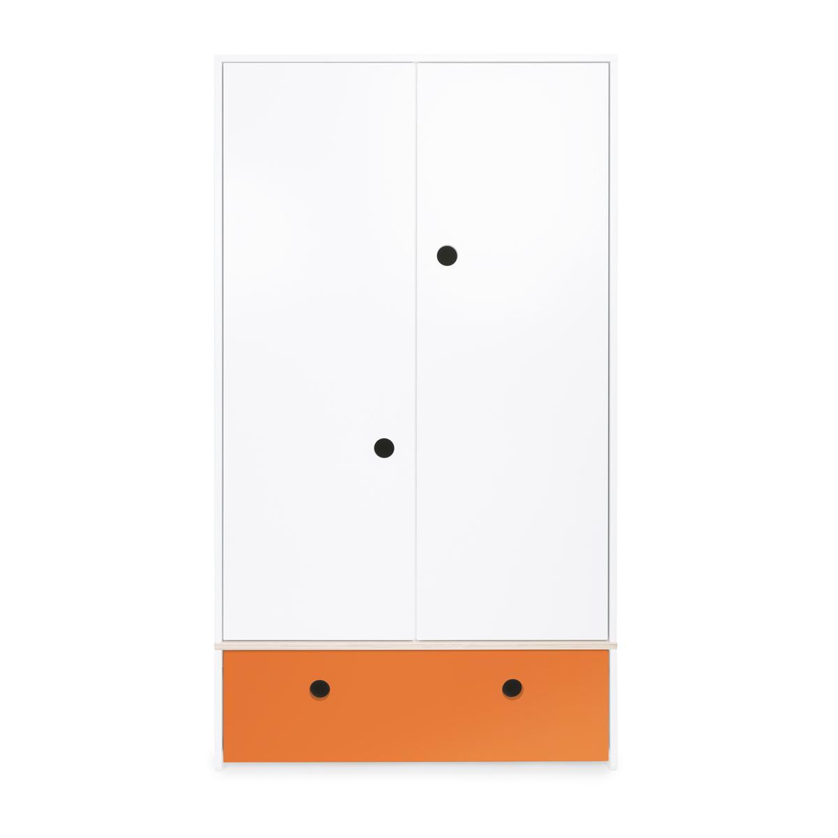 Armario 2 puertas COLORFLEX Abitare Kids cajón frontal pure orange