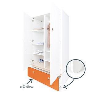 Armario 2 puertas COLORFLEX Abitare Kids cajón frontal pure orange
