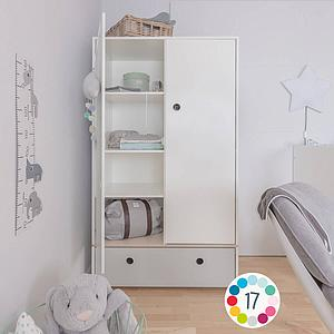 Armario 2 puertas COLORFLEX Abitare Kids cajón frontal space grey