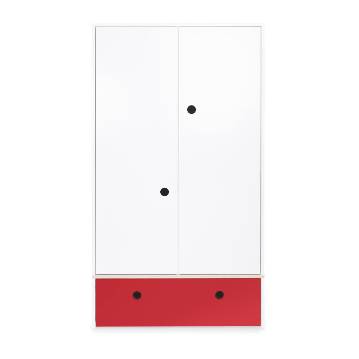 Armario 2 puertas COLORFLEX Abitare Kids cajón frontal true red
