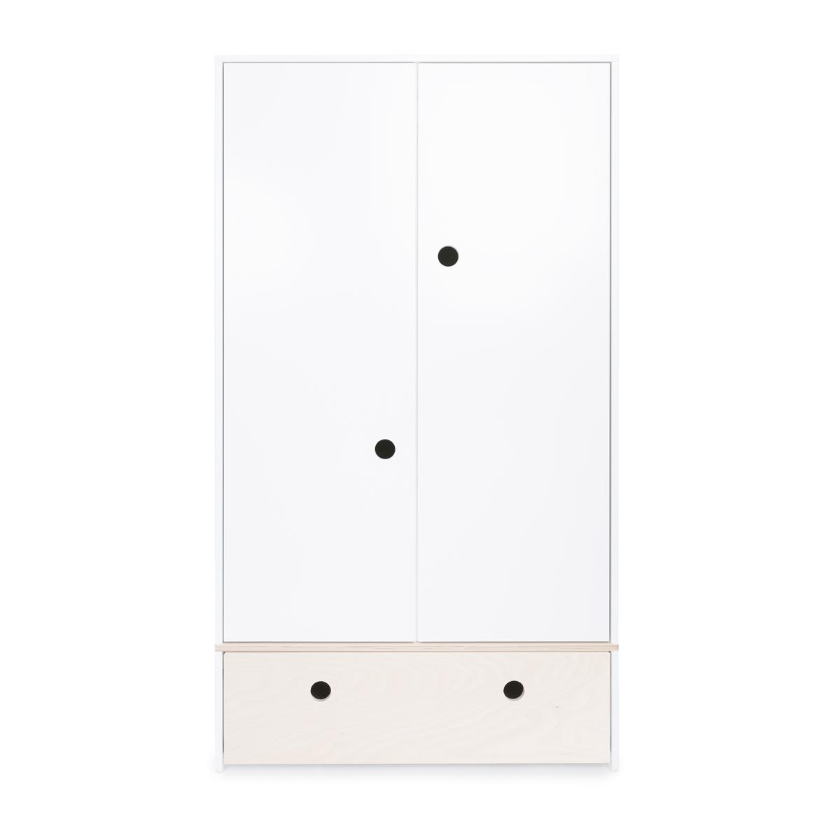 Armario 2 puertas COLORFLEX Abitare Kids cajón frontal white wash