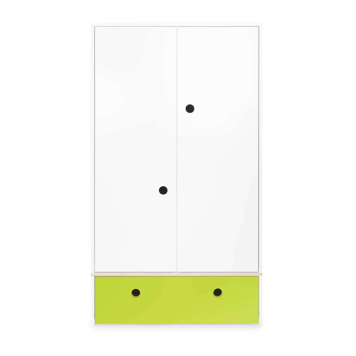 Armario 2 puertas COLORFLEX cajón frontal lime