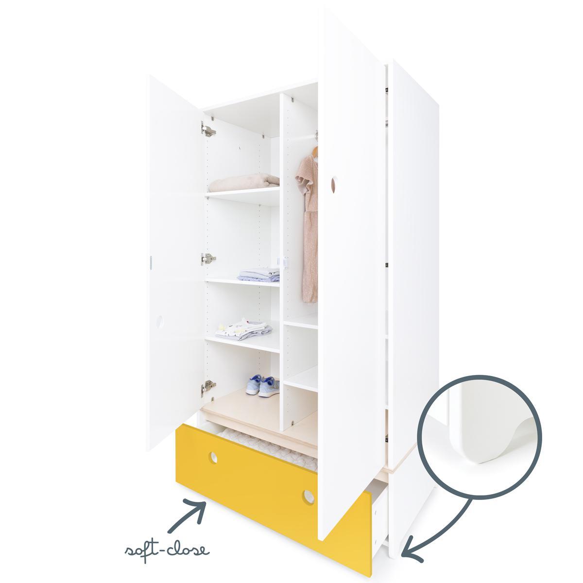 Armario 2 puertas COLORFLEX cajón frontal nectar yellow