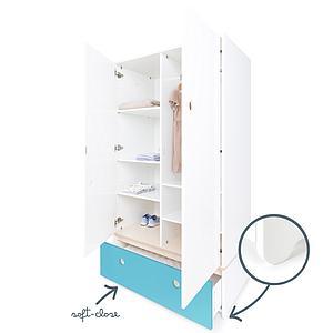 Armario 2 puertas COLORFLEX cajón frontal paradise blue