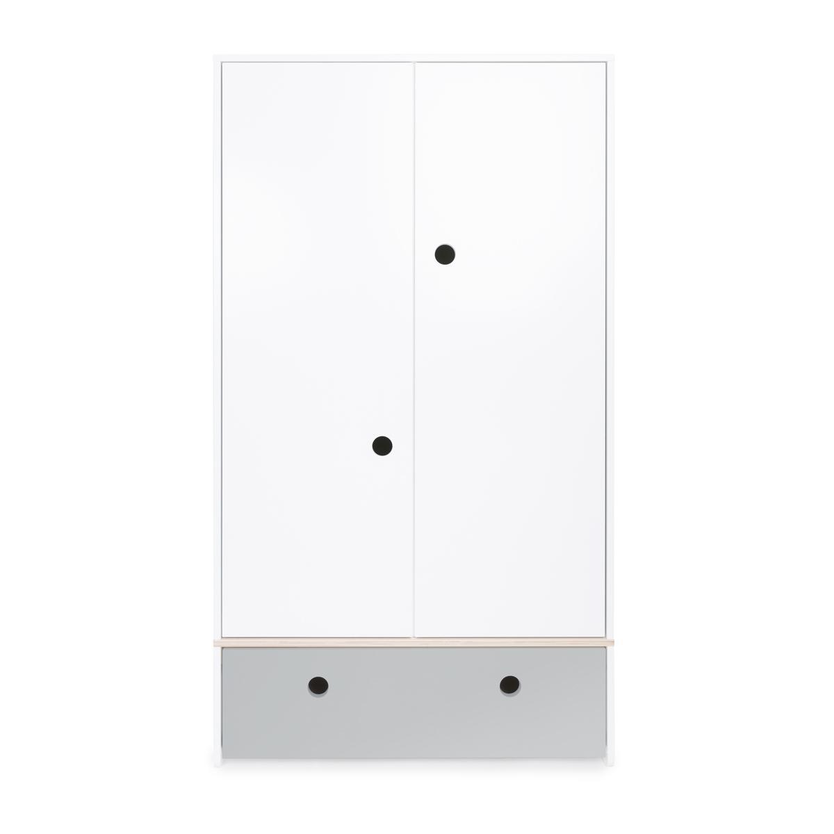 Armario 2 puertas COLORFLEX cajón frontal pearl grey