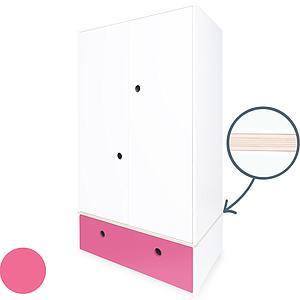 Armario 2 puertas COLORFLEX cajón frontal pink
