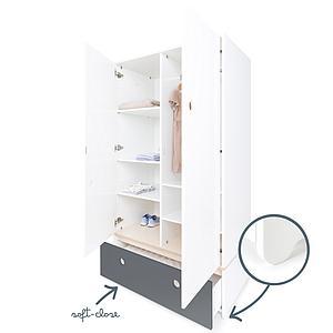 Armario 2 puertas COLORFLEX cajón frontal space grey