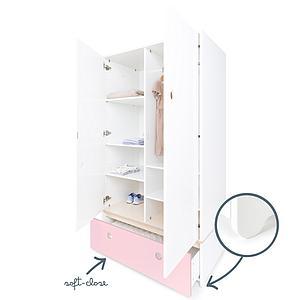 Armario 2 puertas COLORFLEX cajón frontal sweet pink