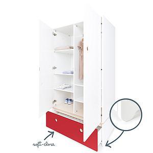 Armario 2 puertas COLORFLEX cajón frontal true red